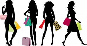 silhouette femme paquet cadeaux